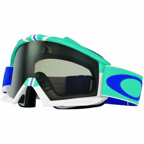 Oakley Proven MX Flight Series Goggles (White Frame/Dark Gray - Custom Oakley Goggles