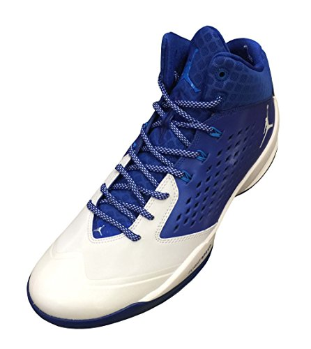 Nike Jordan Rising alta para hombre zapatillas de baloncesto - grau - schwarz - weiß