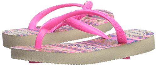 Pictures of Havaianas Kids Slim Fashion Sandal Beige/Pink 8 M US 4