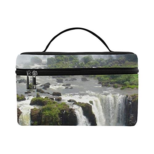 (Tributaries Of The Amazon River Pattern Lunch Box Tote Bag Lunch Holder Insulated Lunch Cooler Bag For Women/men/picnic/boating/beach/fishing/school/work)