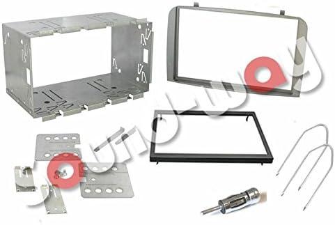 Sound-Way Kit Caja de Montaje Marco Adaptador autoradio 2 DIN para Alfa Romeo 147 / Alfa GT - Gris: Amazon.es: Coche y moto