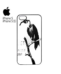 Banksy Petrol Gas Pump Head Vulture Dungeness Cell Phone Case Cover iPhone 5&5s Black