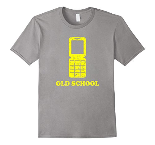 Men's Old School Funny 90s Vintage Flip Phone T Shirt Lar...