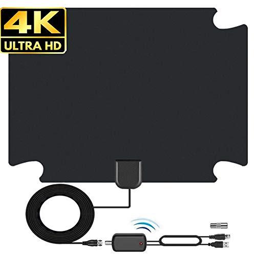 TV Antenna for Digital TV Indoor, 130+ Miles Long Range Digital TV Antenna Indoor HDTV Antenna with Amplifier