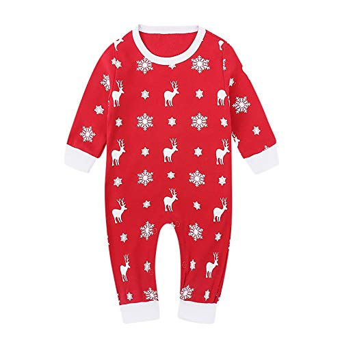 USHOT Infant Girl Rompers-Baby Christmas 0-3 Months Red 6M
