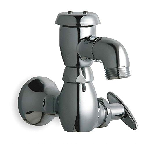 (Chicago FAUCETS Rigid Sill Faucet, Tee Handle Type, Chrome Plated Finish)