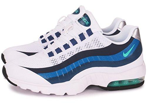 Nike Womens Air Max 95 Scarpe Da Ginnastica Ultra Running 749212 Scarpe Da Ginnastica Scarpe Cristallo Bianco Menta Blu Nuova Ardesia 100