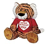 """Can't Keep My Paws Off You!"" Valentine's Day Plush Bengal Tiger"