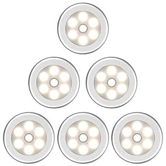 luz nocturna con sensor de movimiento LED Funciona con pilas Auto un ...