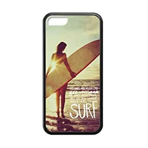 MMZ DIY PHONE CASECanting_Good Surfboard Custom Case Shell Skins for ipod touch 5 TPU (Laser Technology)