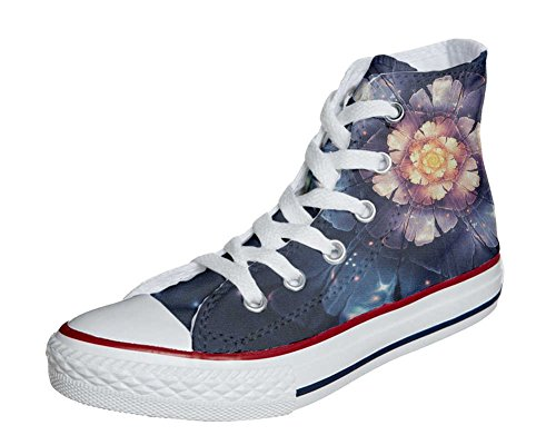 Schuhe Custom Converse All Star, personalisierte Schuhe (Handwerk Produkt customized) Infinity flowers