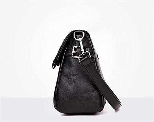 Da Marrone 28x20x10cm In Morbida Borsa colore Tracolla Donna Nero Dimensione Willsego Pelle A nq4FpwTY