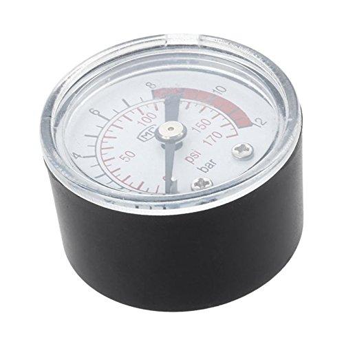 SODIAL (R) 0-12 Bar 0-170 PSI 10 mm Gewinde Gas Luftpumpe Druck Gauge Kompressor Manometer SODIAL(R)