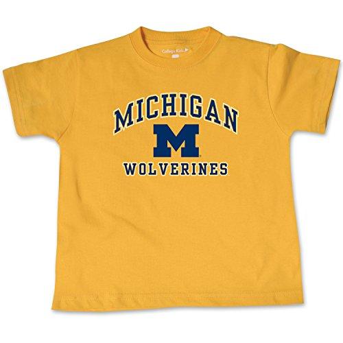 NCAA Michigan Wolverines Toddler Short Sleeve Tee, 3 Toddler, Athletic Gold - Ncaa Michigan Wolverines Jersey