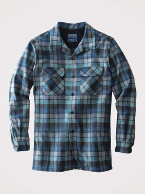 Pendleton Men's Long Sleeve Classic-Fit Board Shirt, Blue/Green Original Surf Plaid-30789, XL