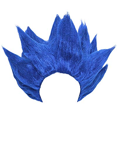 Miccostumes Men's Goku Cosplay Wig (Blue)]()