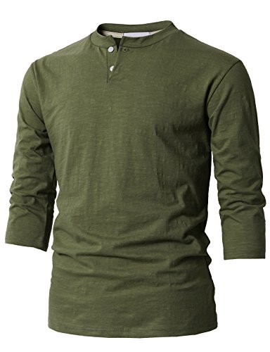 Button Cuff Cotton Coat - H2H Mens Summer Casual V-Neck Button Cuffs Cardigan Short Sleeve T-Shirts Olive US S/Asia M (KMTTS0548)