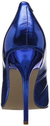 Femmes 20 du Blue à CLASSIQUE Pu Couvert Chaussures Pleaser Metallic Pieds Talons Avant zvZwfW5q