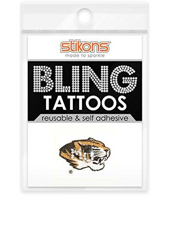 Missouri Tigers Bling Tattoos (Tigers Glitter Gear)