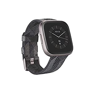 Fitbit Versa 2 Health & Fitness Smartwatch with Voice Control, Sleep Score & Music, One Size, SE Smoke Woven