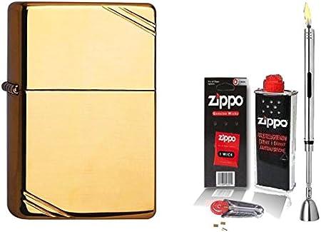 Zippo encendedor de la vendimia de instrumentos de alta de pulido de & accesorios L + barra de mechero de cromo cepillado: Amazon.es: Hogar