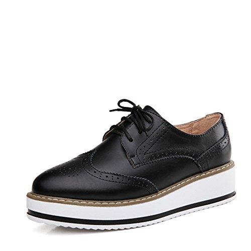 Zapatos de primavera/Zapatos de plataforma de viento UK/Zapatos planos de cuero/Bloch zapatos mujer/Zapatos de suela gruesa B