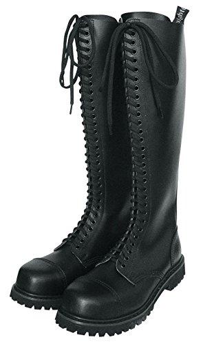 Knightsbridge 30Hole Ranger Boots Black with Steel Toe Cap Boots Steel Toe Gothicschuhe Size EU 47