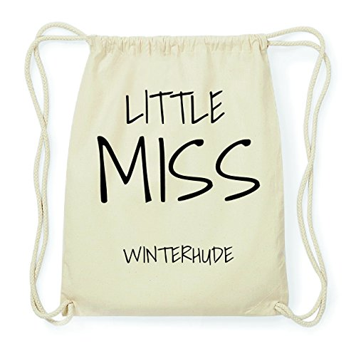 JOllify WINTERHUDE Hipster Turnbeutel Tasche Rucksack aus Baumwolle - Farbe: natur Design: Little Miss i2pJIeY2