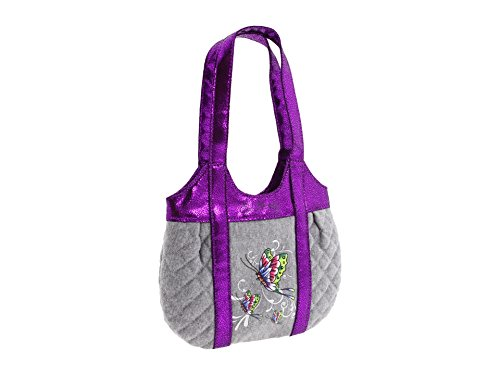 Ed Hardy Girls Allison Quilted Tote - Grey