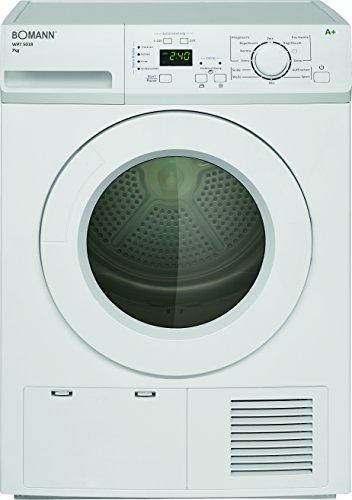 Bomann WPT 5018 Wärmepumpentrockner / A+ / 7 kg / Zink-Trommel, Volumen 105 L / weiß