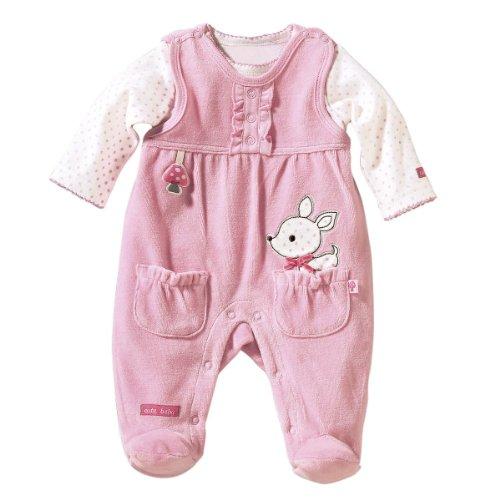 BORNINO Stramplerset Nicki-Strampler mit Shirt Baby Baby-Set, Größe 50/56, rosa