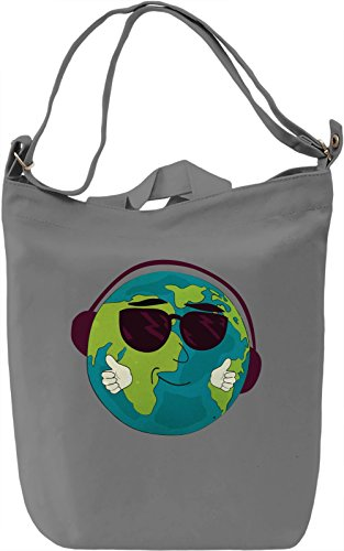 World Music Borsa Giornaliera Canvas Canvas Day Bag| 100% Premium Cotton Canvas| DTG Printing|