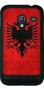 Funda para Samsung Galaxy Ace Plus S7500 - Bandera Albanesa Súper Grunge by BruceStanfieldArtist