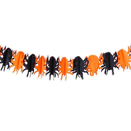 House Props - Spider Pumpkin Scary Witch Garland Halloween House Prop Useful - Allhallow Eve Cucurbita Shore Vine Airplane Propeller Airscrew Autumn - 1PCs