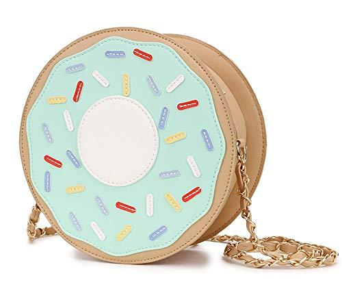 personnalisé bourse Bolsa vert La à conception Mode Belle femme bandoulière Messenger Bag Donuts à Pnizun de Sac chaîne Mini bandoulière unique sac zd4xCq