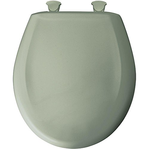 Green Toilet Seat - Round Closed Front Plastic Toilet Seat with Cover, Aspen Green