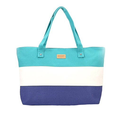2018 Fashion Ladies Hand Canvas Big Beach Shoulder Women Messenger Tote Bags Female Handbags Famous Brand Sac A Main Femme De Marque Pochette (Color Green)