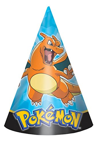 amscan Electrifyingly Cute Pikachu & Friends Birthday Party Paper Cone Hats Favor (8 Pack), 6