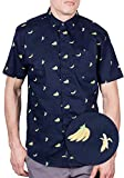 Visive Original Printed Short Sleeve Button Down Shirt Size Small – 4XL Big Mens