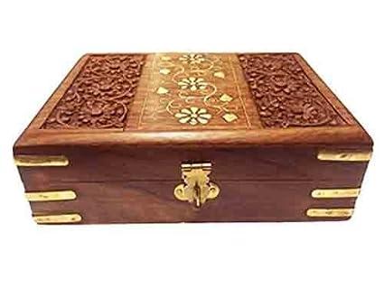 Regalo de la acción de gracias para sus seres queridos Caja de madera de la caja