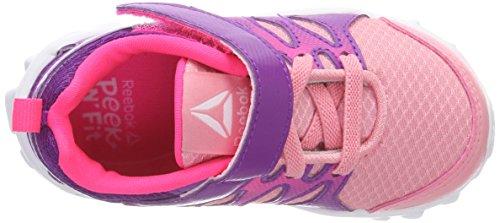 Reebok Realflex Train 4.0 Alt, Zapatillas de Deporte Para Niñas Rosa (Squad Pink/Aubergine/Acid Pink/White 000)