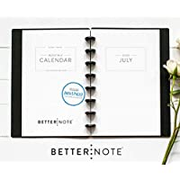 "BetterNote July 2020 - June 2021 Academic Monthly Calendar for Disc-Bound Planners, Fits 8-Disc Circa Junior, Arc, TUL, Half Letter Size 5.5""x8.5"" Classic (Notebook Not Included)"