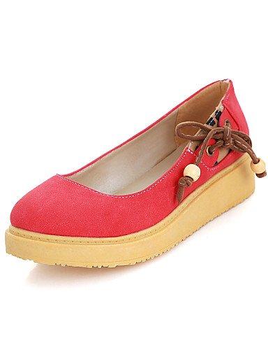 Bleu Chaussures Talon us8Eu39 Rond Cn39 Bout Pdx beige En Bas Appartements Décontracté Red Similicuir rouge Uk6 femme 8Nnw0Ovm