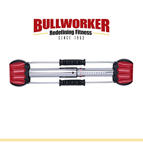Bullworker 20'' Steel Bow - Full Body Workout - Portable Home Gym Isometric Exercise Equipment for Fast Strength Training Gains. Cross Training Fitness; Chest, Back, Arms, and Abs Exercise Machine by Bullworker