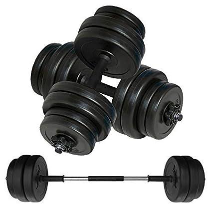 Body Revolution Juego de mancuernas y barra de halterofilia, peso ajustable 10 kg