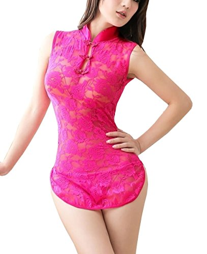 Dissa® dentelle élégant cheongsam Lady Lingerie, rose