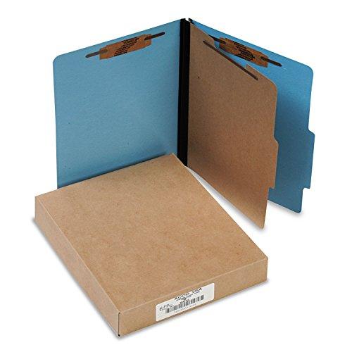 (ACCO 15642 ColorLife PRESSTEX Classification Folders, Letter, 4-Section, Light Blue, 10/Box)