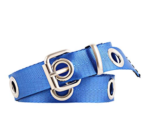 ACVIP Women's Solid Narrow Decorative Pin Buckle Belt (blue) by ACVIP