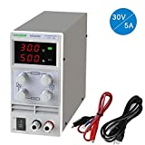 Variable DC Power Supply DC Linear Power Supply Adjustable Regulated Power Supply Digital with Alligator Leads and Power Cord 0-30V 0-5A 110V Input