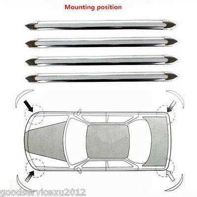 FidgetGear Silver Chrome Car Exterior Bumper Corner Protector Guard Sticker Anti-Scratch X4